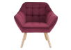 Red Upholstered Side Chair product photo