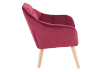 Red Upholstered Side Chair product photo other02 S