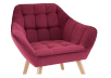 Red Upholstered Side Chair product photo other03 S
