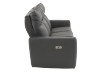 Dark Grey Reclining and Battery Motorized Sofa with Genuine Leather Seats and Adjustable Headrests - ELRAN product photo other02 S