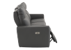 Dark Grey Reclining and Battery Motorized Sofa with Genuine Leather Seats and Adjustable Headrests - ELRAN product photo other03 S