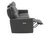 Dark Grey Reclining and Battery Motorized Sofa with Genuine Leather Seats and Adjustable Headrests - ELRAN product photo other04 S