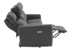 Dark Grey Reclining and Battery Motorized Sofa with Genuine Leather Seats and Adjustable Headrests - ELRAN product photo other05 S