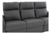 Dark Grey Reclining and Battery Motorized Sofa with Genuine Leather Seats and Adjustable Headrests - ELRAN product photo other06 S