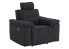 Black Reclining Upholstered Armchair - ELRAN product photo other01 S