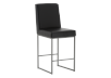 Metal Stool with Black Upholstered Seat product photo other01 S