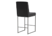 Metal Stool with Black Upholstered Seat product photo other03 S