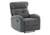 Grey Upholstered Reclining and Rocking Armchair product photo other01 S
