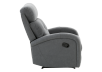 Grey Upholstered Reclining and Rocking Armchair product photo other02 S