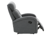 Grey Upholstered Reclining and Rocking Armchair product photo other03 S