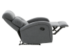 Grey Upholstered Reclining and Rocking Armchair product photo other05 S