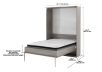 Grey Wall Murphy Bed - Double Bed product photo other04 S