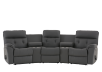 Dark Grey Home Theater Reclining Sofa with Genuine Leather Seats - ELRAN product photo