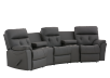 Dark Grey Home Theater Reclining Sofa with Genuine Leather Seats - ELRAN product photo other01 S