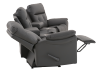 Dark Grey Home Theater Reclining Sofa with Genuine Leather Seats - ELRAN product photo other05 S