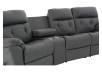 Dark Grey Home Theater Reclining Sofa with Genuine Leather Seats - ELRAN product photo other06 S