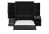 Dark Grey Wall Murphy Bed - Queen Bed product photo other02 S