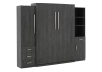 Dark Grey Wall Murphy Bed - Queen Bed product photo other04 S