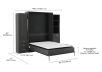 Dark Grey Wall Murphy Bed - Queen Bed product photo other05 S