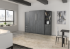 Dark Grey Wall Murphy Bed - Queen Bed product photo other09 S