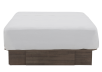 Brown Grey 2-Drawers Queen Platform Bed product photo other01 S