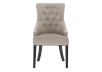 Wood Chair with Grey Upholstered Seat product photo