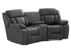 Dark Grey Reclining Loveseat product photo other01 S