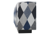 Grey and Blue Upholstered Ottoman product photo other03 S