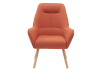 Orange Upholstered Side Chair product photo