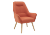 Orange Upholstered Side Chair product photo other01 S