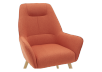 Orange Upholstered Side Chair product photo other03 S