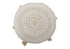 "15"" Round Ivory and Golden Yellow Decorative Pillow product photo"
