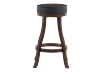 Brown and Black Wood Swivelling Stool product photo