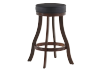 Brown and Black Wood Swivelling Stool product photo other01 S