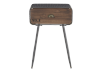 Brown Wood and Metal Accent Table product photo