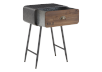 Brown Wood and Metal Accent Table product photo other02 S