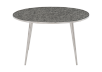 Silver Grey Metal and Tempered Glass Coffee Table product photo