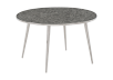 Silver Grey Metal and Tempered Glass Coffee Table product photo other01 S