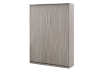 Grey Wall Murphy Bed with Storage  - Twin Bed product photo other03 S