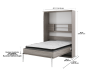 Grey Wall Murphy Bed with Storage  - Twin Bed product photo other04 S