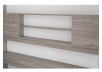 Grey Wall Murphy Bed with Storage  - Twin Bed product photo other07 S