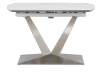 White and Grey Ceramic and Metal Table with Integrated Extension product photo
