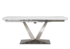 White and Grey Ceramic and Metal Table with Integrated Extension product photo other01 S