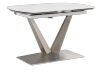 White and Grey Ceramic and Metal Table with Integrated Extension product photo other02 S