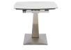 White and Grey Ceramic and Metal Table with Integrated Extension product photo other03 S