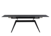 Black Metal and Ceramic Table with Central Leaf product photo other01 S