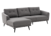 Grey Upholstered Sectional Sofa product photo other01 S