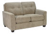 Beige Upholstered Loveseat product photo other01 S