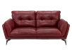 Red Leather Loveseat product photo