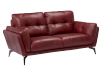 Red Leather Loveseat product photo other01 S